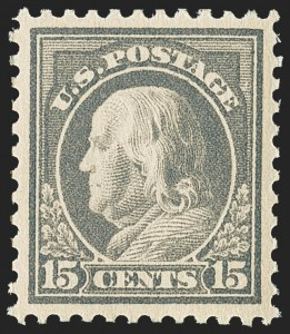 Sale Number 1156, Lot Number 3726, 1917-19 Washington-Franklin Issues, cont. (Scott 498-524)15c Gray (514), 15c Gray (514)