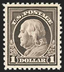 Sale Number 1156, Lot Number 3733, 1917-19 Washington-Franklin Issues, cont. (Scott 498-524)$1.00 Violet Brown (518), $1.00 Violet Brown (518)