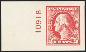 Sale Number 1156, Lot Number 3747, 1918-20 Washington-Franklin Issues (Scott 525-547)2c Carmine Rose, Ty. IV, Imperforate (532), 2c Carmine Rose, Ty. IV, Imperforate (532)