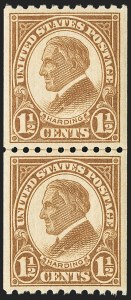 Sale Number 1156, Lot Number 3759, 1922 and Later (Scott 551-1867b)1-1/2c Yellow Brown, Coil (605), 1-1/2c Yellow Brown, Coil (605)