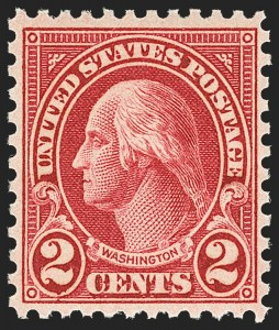 Sale Number 1156, Lot Number 3764, 1922 and Later (Scott 551-1867b)2c Carmine, Ty. II (634A), 2c Carmine, Ty. II (634A)