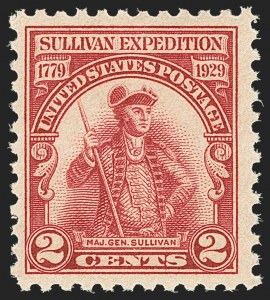 Sale Number 1156, Lot Number 3765, 1922 and Later (Scott 551-1867b)2c Lake, Sullivan Expedition (657a), 2c Lake, Sullivan Expedition (657a)