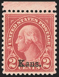 Sale Number 1156, Lot Number 3766, 1922 and Later (Scott 551-1867b)2c Kans. Ovpt. (660), 2c Kans. Ovpt. (660)