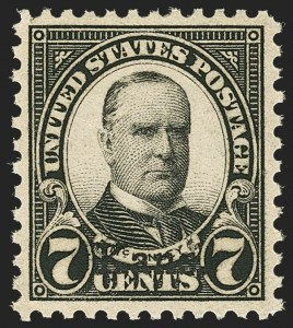 Sale Number 1156, Lot Number 3768, 1922 and Later (Scott 551-1867b)7c Kans. Ovpt. (665), 7c Kans. Ovpt. (665)