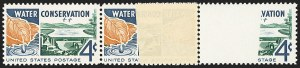 Sale Number 1156, Lot Number 3772, 1922 and Later (Scott 551-1867b)4c Water Conservation, Brown Orange Missing (1150a), 4c Water Conservation, Brown Orange Missing (1150a)