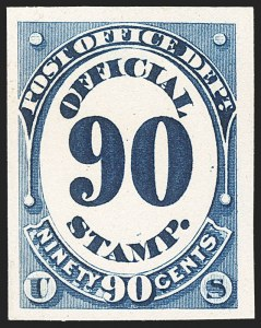 Sale Number 1156, Lot Number 3839, Officials1c-90c Post Office, Atlanta Trial Color Plate Proofs (O48TC-O56TC), 1c-90c Post Office, Atlanta Trial Color Plate Proofs (O48TC-O56TC)