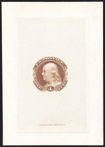 Sale Number 1158, Lot Number 4017, 1869 Issue, 1c Grant and Franklin Essays (Scott 112-E)1c Small Numeral, Die Essay on India (112-E4a), 1c Small Numeral, Die Essay on India (112-E4a)