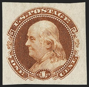 Sale Number 1158, Lot Number 4018, 1869 Issue, 1c Grant and Franklin Essays (Scott 112-E)1c Small Numeral, Plate Essay on Stamp Paper (112-E4b to 112-E4c), 1c Small Numeral, Plate Essay on Stamp Paper (112-E4b to 112-E4c)