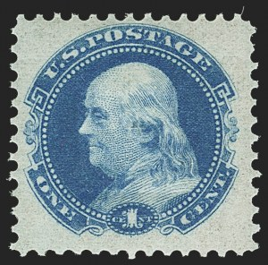 Sale Number 1158, Lot Number 4019, 1869 Issue, 1c Grant and Franklin Essays (Scott 112-E)1c Small Numeral, Plate Essay on Stamp Paper, Perforated 12, Grilled (112-E4d), 1c Small Numeral, Plate Essay on Stamp Paper, Perforated 12, Grilled (112-E4d)