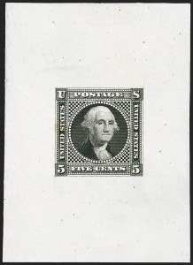 Sale Number 1158, Lot Number 4046, 1869 Issue, 5c Washington Essays (Scott 115-E)5c Black, Small Lettering, Large Die Essay on India (115-E2a), 5c Black, Small Lettering, Large Die Essay on India (115-E2a)