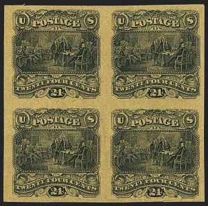 Sale Number 1158, Lot Number 4085, 1869 Issue, 24c Declaration of Independence Essays (Scott 120-E)24c Black on Dull Yellow Tinted, Small Numeral Plate Essay on India (120-E2e), 24c Black on Dull Yellow Tinted, Small Numeral Plate Essay on India (120-E2e)