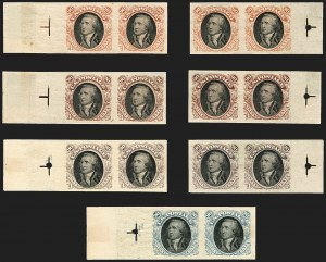 Sale Number 1158, Lot Number 4113, 1869 Issue, 90c Washington and Lincoln Essays (Scott 122-E)90c Washington, Plate Essay on Stamp Paper (122-E2b), 90c Washington, Plate Essay on Stamp Paper (122-E2b)