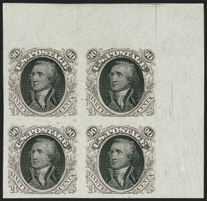 Sale Number 1158, Lot Number 4114, 1869 Issue, 90c Washington and Lincoln Essays (Scott 122-E)90c Washington, Plate Essay on Stamp Paper (122-E2b), 90c Washington, Plate Essay on Stamp Paper (122-E2b)