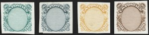 Sale Number 1158, Lot Number 4115, 1869 Issue, 90c Washington and Lincoln Essays (Scott 122-E)90c Frame Only, Plate Essay on Stamp Paper (122-E3), 90c Frame Only, Plate Essay on Stamp Paper (122-E3)