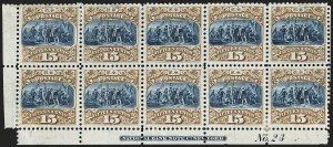Sale Number 1158, Lot Number 4167, 1869 Issue, Proofs by Individual Denomination15c Brown & Blue, Ty. III, Plate Proof on India (129P3), 15c Brown & Blue, Ty. III, Plate Proof on India (129P3)