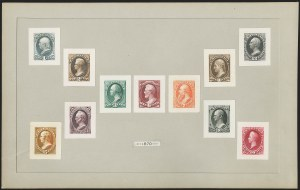 Sale Number 1158, Lot Number 4199, 1870-88 Bank Note Issues Proof Sets1c-90c 1870-73 Bank Note Issues, Small Die Proofs on Wove (145P2, 157P2-166P2), 1c-90c 1870-73 Bank Note Issues, Small Die Proofs on Wove (145P2, 157P2-166P2)