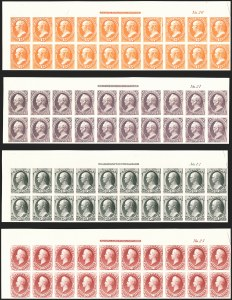 Sale Number 1158, Lot Number 4200, 1870-88 Bank Note Issues Proof Sets1c-90c National Bank Note Co., Plate Proofs on India (145P3-155P3, 166P3), 1c-90c National Bank Note Co., Plate Proofs on India (145P3-155P3, 166P3)