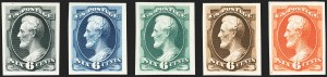 Sale Number 1158, Lot Number 4203, 1870-88 Bank Note Issues Proof Sets1c-90c Continental Bank Note Co. Issue, Atlanta Trial Color Proofs (156TC4-166TC4), 1c-90c Continental Bank Note Co. Issue, Atlanta Trial Color Proofs (156TC4-166TC4)