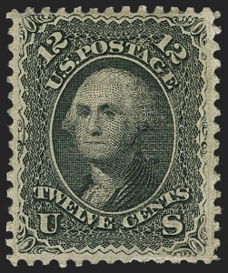 Sale Number 1159, Lot Number 103, 1867-68 Grilled Issue (Scott 79-101)12c Black, Z. Grill (85E), 12c Black, Z. Grill (85E)