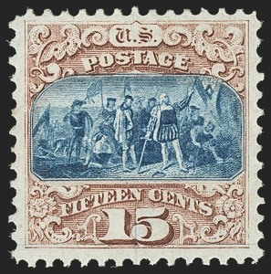 Sale Number 1159, Lot Number 136, 1869 Pictorial Issue (Scott 112-122)15c Brown & Blue, Ty. I (118), 15c Brown & Blue, Ty. I (118)