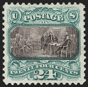 Sale Number 1159, Lot Number 150, 1875 Re-Issue of 1869 Pictorial Issue (Scott 123-133a)24c Green & Violet, Re-Issue (130), 24c Green & Violet, Re-Issue (130)