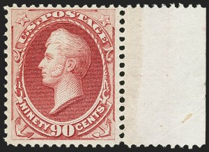 Sale Number 1159, Lot Number 164, 1870-71 National Bank Note Co. Issues (Scott 134-155)90c Carmine (155), 90c Carmine (155)