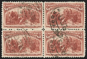 Sale Number 1159, Lot Number 203, 1893 Columbian Issue (Scott 230-245)$2.00 Columbian (242), $2.00 Columbian (242)
