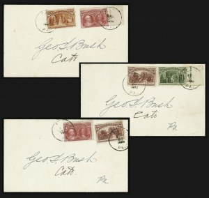 Sale Number 1159, Lot Number 208, 1893 Columbian Issue (Scott 230-245)$1.00-$4.00 Columbian (241-244), $1.00-$4.00 Columbian (241-244)