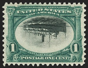 Sale Number 1159, Lot Number 212, 1901 Pan-American Issue Inverts (Scott 294a-295a)1c Pan-American, Center Inverted (294a), 1c Pan-American, Center Inverted (294a)