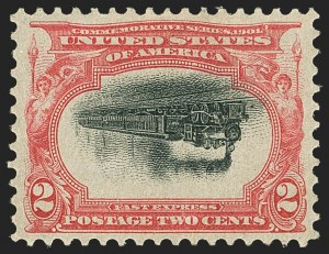 Sale Number 1159, Lot Number 215, 1901 Pan-American Issue Inverts (Scott 294a-295a)2c Pan-American, Center Inverted (295a), 2c Pan-American, Center Inverted (295a)