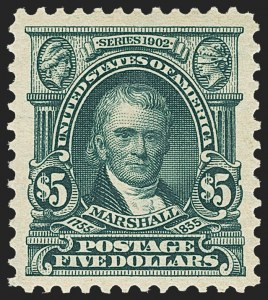 Sale Number 1159, Lot Number 218, 1902-08 Issues, Louisiana Purchase Issue (Scott 300-322, 327)$5.00 Dark Green (313), $5.00 Dark Green (313)