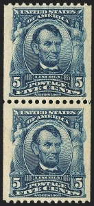 Sale Number 1159, Lot Number 221, 1902-08 Issues, Louisiana Purchase Issue (Scott 300-322, 327)5c Blue, Coil (317), 5c Blue, Coil (317)