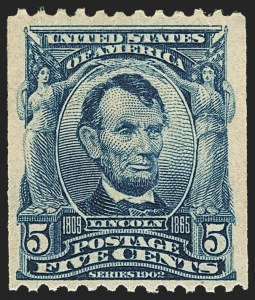 Sale Number 1159, Lot Number 222, 1902-08 Issues, Louisiana Purchase Issue (Scott 300-322, 327)5c Blue, Coil (317), 5c Blue, Coil (317)
