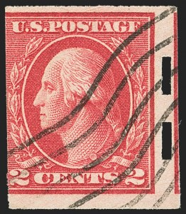 Sale Number 1159, Lot Number 244, 1910-22 Washington-Franklin Issues (Scott 389-539)2c Deep Rose, Ty. Ia, Imperforate, Schermack Ty. III Private Perforation (482A), 2c Deep Rose, Ty. Ia, Imperforate, Schermack Ty. III Private Perforation (482A)