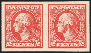 Sale Number 1159, Lot Number 249, 1910-22 Washington-Franklin Issues (Scott 389-539)2c Carmine, Ty. VII, Imperforate (534B), 2c Carmine, Ty. VII, Imperforate (534B)