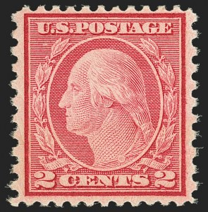 Sale Number 1159, Lot Number 250, 1910-22 Washington-Franklin Issues (Scott 389-539)2c Carmine Rose, Ty. II, Rotary Perf 11 x 10 (539), 2c Carmine Rose, Ty. II, Rotary Perf 11 x 10 (539)