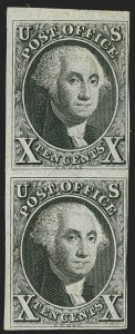 Sale Number 1159, Lot Number 29, 1847 Issue (Scott 1-2)10c Black (2), 10c Black (2)