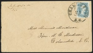 "Sale Number 1159, Lot Number 311, The Civil War and Confederate States10c Milky Blue, ""TEN"" (9a), 10c Milky Blue, ""TEN"" (9a)"