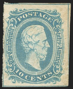 Sale Number 1159, Lot Number 313, The Civil War and Confederate States10c Blue, Frameline (10), 10c Blue, Frameline (10)