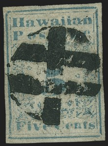 Sale Number 1159, Lot Number 315, Hawaii, PhilippinesHAWAII, 1851, 5c Blue (2), HAWAII, 1851, 5c Blue (2)