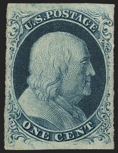 Sale Number 1159, Lot Number 39, 1851-56 Issue (Scott 5-17)1c Blue, Ty. III (8), 1c Blue, Ty. III (8)