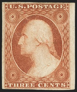 Sale Number 1159, Lot Number 42, 1851-56 Issue (Scott 5-17)3c Orange Brown, Ty. II (10A), 3c Orange Brown, Ty. II (10A)