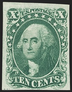 Sale Number 1159, Lot Number 47, 1851-56 Issue (Scott 5-17)10c Green, Ty. I (13), 10c Green, Ty. I (13)