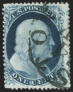 Sale Number 1159, Lot Number 61, 1857-60 Issue (Scott 18-39)1c Blue, Ty. III, Position 99R2 (21), 1c Blue, Ty. III, Position 99R2 (21)