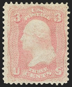 Sale Number 1162, Lot Number 133, 1861-66 Issue (Scott 56-78)3c Pink (64), 3c Pink (64)