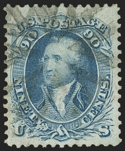 Sale Number 1162, Lot Number 145, 1861-66 Issue (Scott 56-78)90c Blue (72), 90c Blue (72)