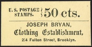 Sale Number 1162, Lot Number 152, Postage Currency and Encased PostageJoseph Bryan, Clothing Establishment, 214 Fulton Street, Brooklyn, Joseph Bryan, Clothing Establishment, 214 Fulton Street, Brooklyn