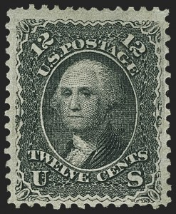 Sale Number 1162, Lot Number 179, 1867-68 Grilled Issue (Scott 79-101)12c Black, E. Grill (90), 12c Black, E. Grill (90)