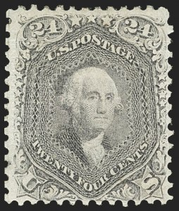 Sale Number 1162, Lot Number 188, 1867-68 Grilled Issue (Scott 79-101)24c Gray Lilac, F. Grill, Split Grill (99 var), 24c Gray Lilac, F. Grill, Split Grill (99 var)