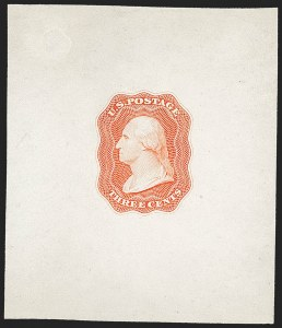 Sale Number 1162, Lot Number 2, Essays and ProofsDanforth, Bald & Co., 3c Die Essay on White Glazed, Single Line Frame (11-E12d), Danforth, Bald & Co., 3c Die Essay on White Glazed, Single Line Frame (11-E12d)